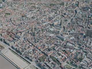 Antwerp City, Belgium (2020) 3D Model