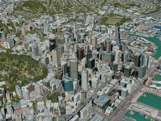 Auckland City, New Zealand (2020) 3D Model