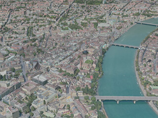 Basel City, Switzerland (2020) 3D Model