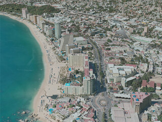 Acapulco City, Mexico (2020) 3D Model