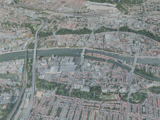 Bremen City, Germany (2020) 3D Model