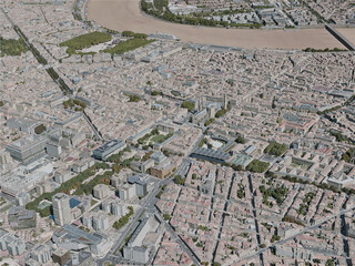 Bordeaux City, France (2020) 3D Model
