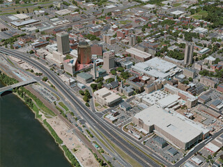 Springfield City, MA, USA (2020) 3D Model