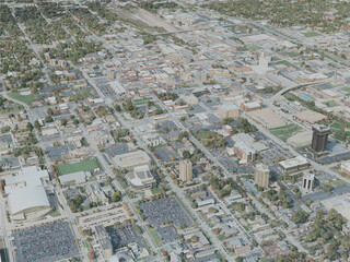 Springfield City, MO, USA (2020) 3D Model
