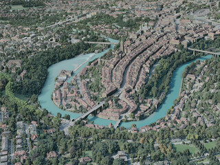 Bern City, Switzerland (2020) 3D Model