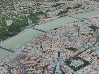 Budapest City, Hungary (2020) 3D Model
