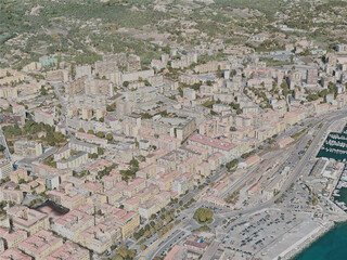 Ajaccio City, France (2020) 3D Model