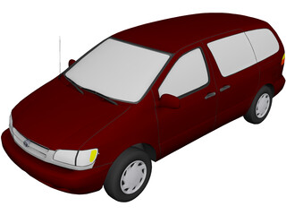 Toyota Sienna (1998) 3D Model 3D Preview