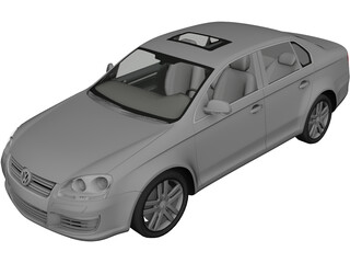 Volkswagen Jetta (2006) 3D Model 3D Preview
