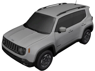 Jeep Renegade (2016) 3D Model
