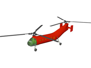 Piasecki H-21 / CH-21B Workhorse 3D Model 3D Preview
