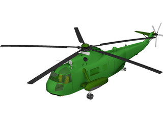 Sikorsky VH-3D Sea King (Presidential) 3D Model