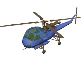 Westland Wasp 3D Model 3D Preview