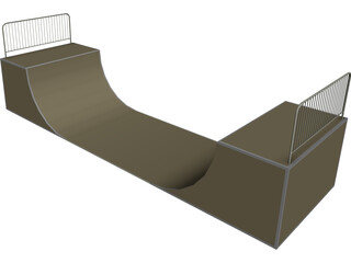 Ramp for Skeating 3D Model