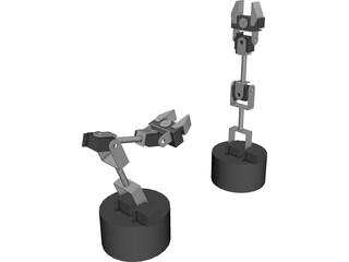 Lynxmotion SES Robot Arm 3D Model