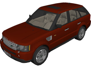 Range Rover Sport 3D Model 3D Preview