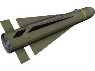 AGM-65K Maverick Missile 3D Model