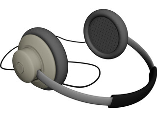 Walkman Stereo Headphones 3D Model
