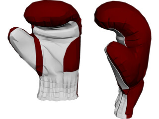 Boxing Gloves 3D Model