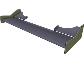 Formula BMW Front Wing Assembly 3D Model