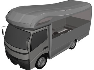 Camper Van 3D Model 3D Preview