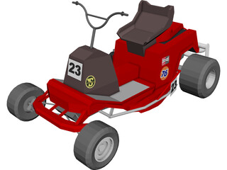 Lawn Mower Cart 3D Model