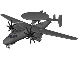 E-2C Hawkeye 3D Model 3D Preview