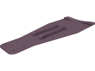 Double Bass Pedal Plate 3D Model