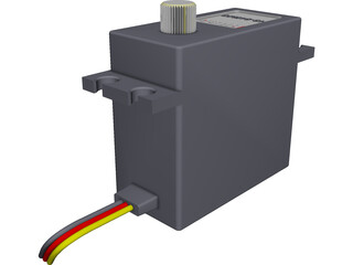 RC Hitec Servo HS-645MG 3D Model