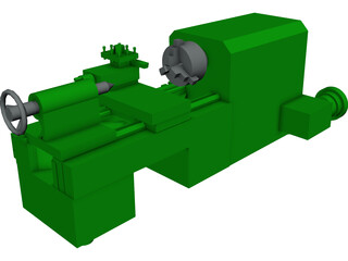 Large Horizontal Machine-Shop Lathe 3D Model