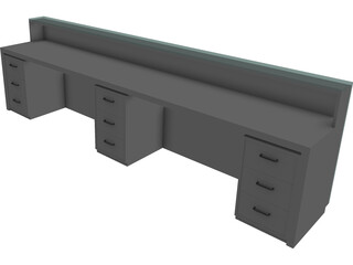 Counter Reception 3D Model