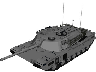 M1A2 Abrams Battle Tank  3D Model