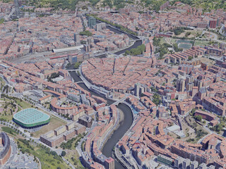 Bilbao City, Spain (2021) 3D Model