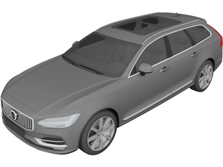 Volvo V90 Estate (2017) 3D Model