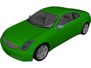 Infiniti G35 Coupe (2007) 3D Model 3D Preview