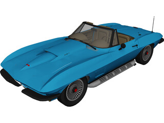 Chevrolet Corvette (1967) 3D Model 3D Preview