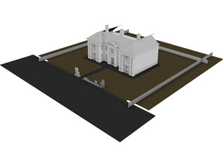 English Villa 3D Model 3D Preview