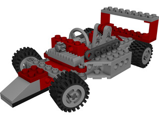 Lego Car 3D Model 3D Preview