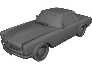 Mercedes-Benz 280 SL (1969) 3D Model