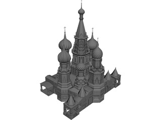 Sobor Vasily Blagenni 3D Model