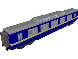 Train Personal Wagon 3D Model