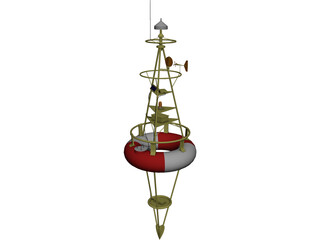 Harbor Buoy 3D Model