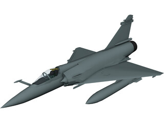 Dassault Mirage 2000-5 3D Model 3D Preview