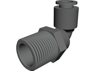 3-8 NPT Push Lock Fitting 3D Model 3D Preview