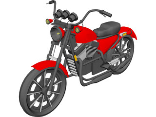 Harley-Davidson (1975) 3D Model 3D Preview