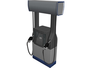 Chevron Gas Pump 3D Model