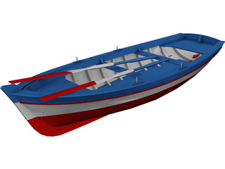 Wooden Boat 3D Model 3D Preview