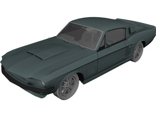 Ford Mustang Shelby GT500 (1967) 3D Model