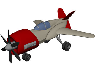 Racing Airplane 3D Model 3D Preview