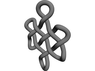 Buddhist Endless Knot 3D Model